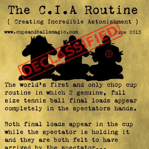 CIA Chop Cup Routine