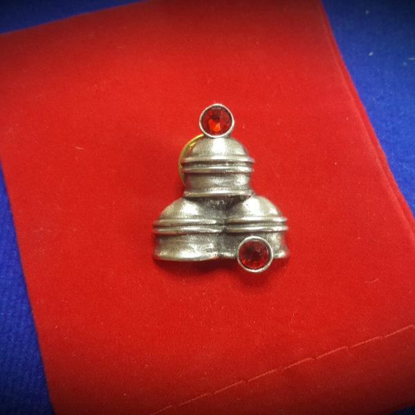 pewter and swarovski tie pin / lapel pin